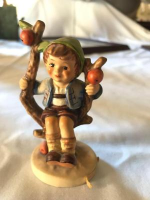 "Hummel Apple Tree Boy figurine. 4"" tall."