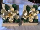 "Magnolia bookends. 5.5"" tall x 4.5"" wide."