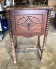 "Small Antique Wood Table - excellent project piece 16"" x 12"", 24"" tall"