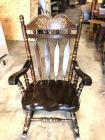 "Solid Wood Vintage Wood Rocking Chair 44"" tall, seat is 17"" from floor"