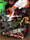 Box of Boys Toys - cars, planes, etc