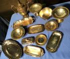 Assorted Silver Plated Items, I believe the pitcher may be pewter?