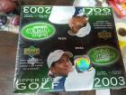 3 unopened boxes of 2003 Upper Deck Golf