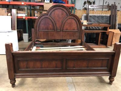 Very Pretty Wood Bed Frame - I believe it is king sized