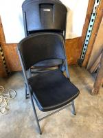 4 Very Nice Heavy Duty Plastic Folding Chairs