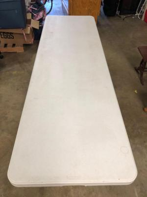 Large White Lifetime Folding Table - Seat the whole family including in-laws at this table!