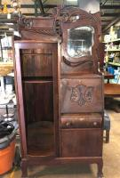 "Very Nice Antique Desk/Cabinet - 35"" x 12"", 75"" tall"