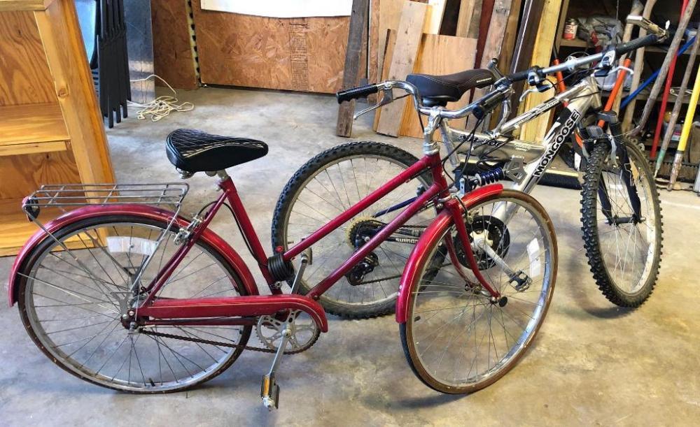 Free Spirit Touring Bike and Mongoose Mountain Bike