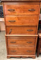 "Tall 5 Drawer Dresser - PROJECT PIECE! Has great potential but it needs work 29"" x 18"", 53.5"" tall"