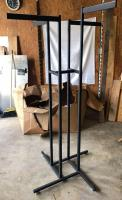 Black High Capacity 4-Way Garment Rack Rectangular Frame & Straight Arms - very good used condition!
