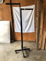 2-Way Rack with Adjustable Arms - Black Metal