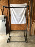 Black Plastic/metal Hanging rack with 3 hanging rods