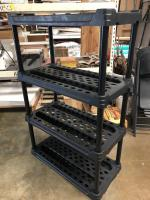 Heavy Duty Black Plastic Garage Shelving in really good condition