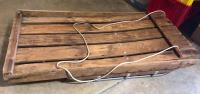 Vintage Custom Made Wood Sled in really good condition! Good decor piece!