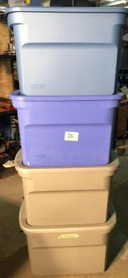 4 Medium Storage Totes with lids