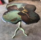 Flower Shaped Folding Small Wood Table