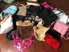 Lot of clean small purses and makeup bags