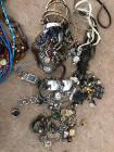 Large collection of costume jewelry necklaces bracelets earrings and rings some sterling silver