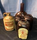 Brown Glass Jars plus Platte Valley mini jug