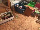 Large lot of Christmas decorations. Wreath,garland, bows, etc.