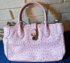 Dooney & Bourke Pale Pink Ostrich Two Way Handbag Authentic - excellent condition!!