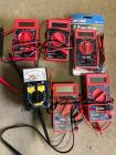 Multimeters - not tested 5 digital (1 in original packaging) and 1 analog meter