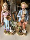 "Homco 8816 Husband and wife 14"" figures"