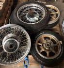 Pallet Of Vintage Motorcycle Rims And Tires
