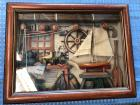 Nautical Shadow Box decor - wood frame could use a touch up but otherwise a nice piece of art