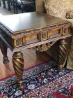 Beautiful end table with decorative carving