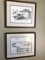 Pair of signed and numbered pencil drawing prints