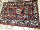 Small area rug, Colors of rust blue navy and tan