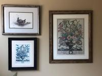 Grouping of framed prints