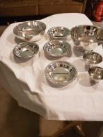 Gorgeous silver plated lot of 8 bowls