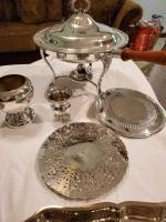Large lot of silver 0pated items