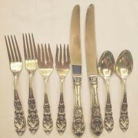 International Sterling Richelieu 4 piece place setting for two.
