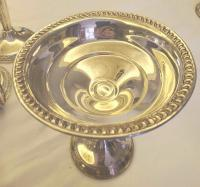 Sterling silver weighted pedistal dish