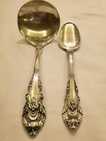Wallace Sterling sir Christopher 1 ladle and 1 dessert spoon.