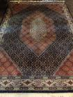 Pure new wool pile area rug