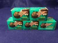 Five 20 Cartridge Boxes of Brown Bear 7.62x39 Ammunition