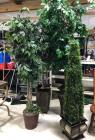 Artificial Trees (1 topiary) in great condition