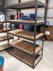 "Metal/Wood Shelving - 48"" x 24"", 72"" tall"