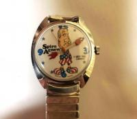 Vintage spiro agnew dirty time company watch