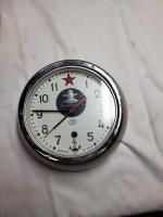 Vintage soviet ussr/russian submarine wall clock with key