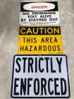 Danger Signs - these are real signs