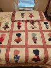 Twin quilt set in Dutch boy and Dutch girl pattern.
