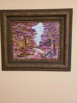 Oil on canvas wonderfully framed picture.