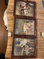 3 framed pictures of ballerinas