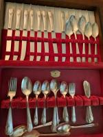 Set of silver plate flatware