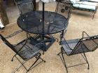 Heavy Duty Metal Patio table and 5 chairs